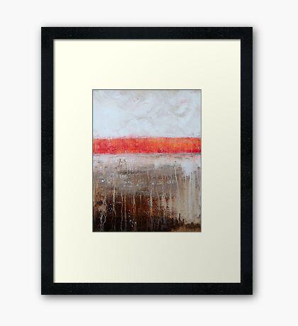 Earth Umber Framed Print