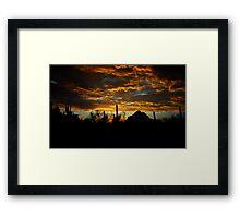 An Arizona Desert Sunset  Framed Print