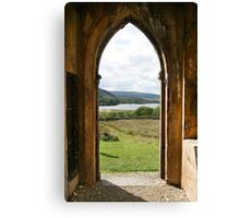 Old Church Dunlewey Donegal Ireland - view from door Canvas Print