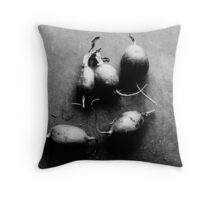 Radishes by Morning Light. Throw Pillow