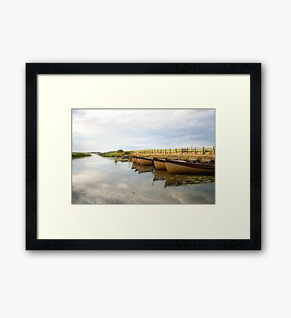 Boats on New Lake Dunfanaghy Donegal Ireland Framed Print