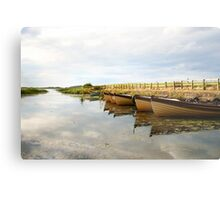Boats on New Lake Dunfanaghy Donegal Ireland Metal Print