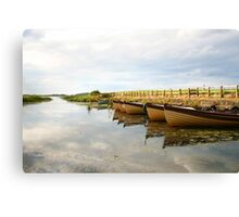 Boats on New Lake Dunfanaghy Donegal Ireland Canvas Print