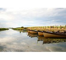 Boats on New Lake Dunfanaghy Donegal Ireland Photographic Print