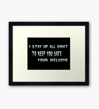 Your Welcome Framed Print