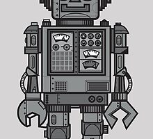 Vintage Robot by wottoart