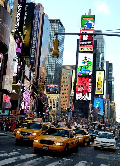 Cabs in Times Square by Tom Clancy
