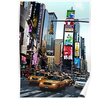 Cabs in Times Square Poster