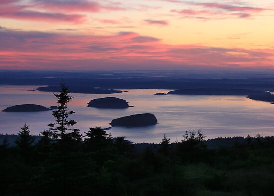Daybreak at Cadillac Mountain by Lori Deiter