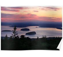 Daybreak at Cadillac Mountain Poster