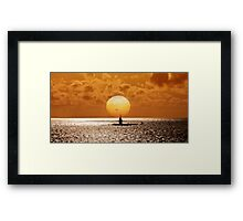 Sunset At Pearl Harbor  Framed Print