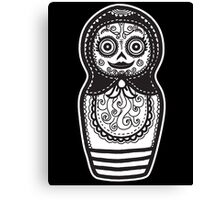 Day of the Dead Russian Doll Canvas Print