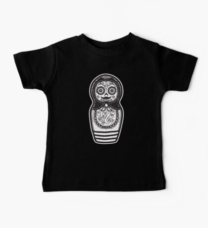 Day of the Dead Russian Doll Baby Tee