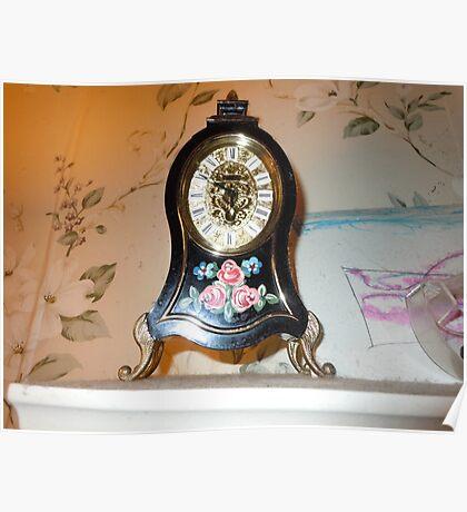 German Clock Poster