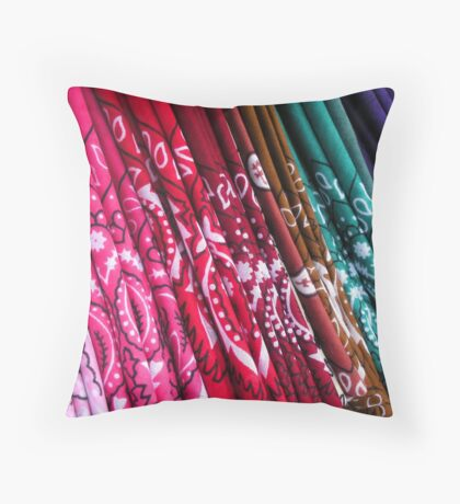 """Kerchiefs For Sale"" Throw Pillow"