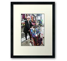 Shopping on Broadway, New York Framed Print
