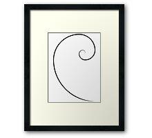 Golden Ratio Spiral Framed Print
