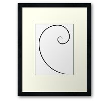 Golden Ratio Spiral Framed Print