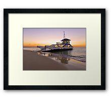 Vehicular Ferry from Inskip Point to Fraser Island. Queensland, Australia. Framed Print