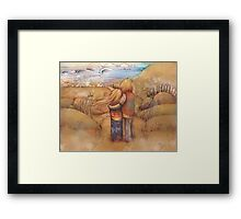 rainbow point Framed Print