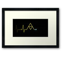 Hey, Listen! - Triforce Heartbeat Framed Print