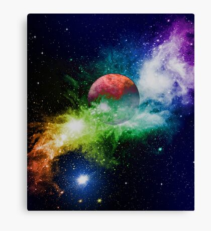 Moon and Solar System^ Canvas Print