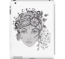 woman with a flower crown iPad Case/Skin