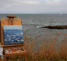 en plein air in gray by TerrillWelch