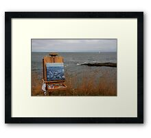 en plein air in gray Framed Print