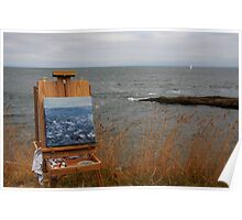 en plein air in gray Poster