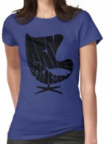 Black Egg Womens Fitted T-Shirt
