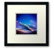 saturday sky Framed Print