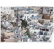 Santorini On The Hillside Poster