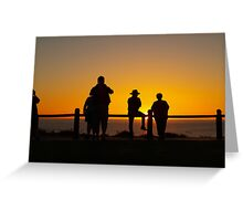 Watching the setting sun, July 2011 Broome  Greeting Card