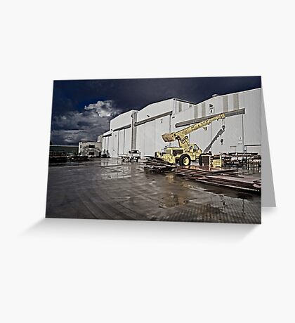 Factory Ground Greeting Card