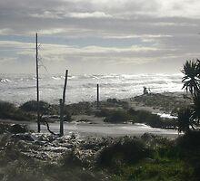 Troubled beach by Paul Chubb
