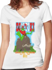 Contiki Canada and the Rockies Women's Fitted V-Neck T-Shirt