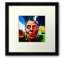 One of Claire's Many Faces Framed Print