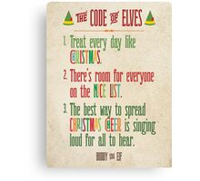 Buddy the Elf! The Code of Elves Canvas Print