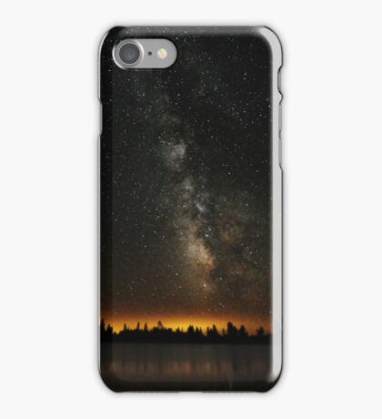 Milky Way Over The Lake iPhone Case/Skin