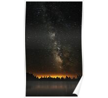 Milky Way Over The Lake Poster
