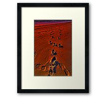 Please do not walk away - come talk to me Framed Print
