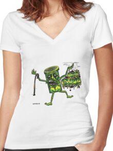40 s granpa Women's Fitted V-Neck T-Shirt