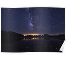 Milky Way Over The Lake II Poster