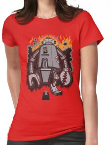 Robot Attack Womens Fitted T-Shirt
