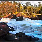 Baden Powell Water Spout-Murray River by Peter Rattigan