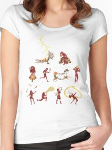 The Discovery of Fire Women's Fitted Scoop T-Shirt