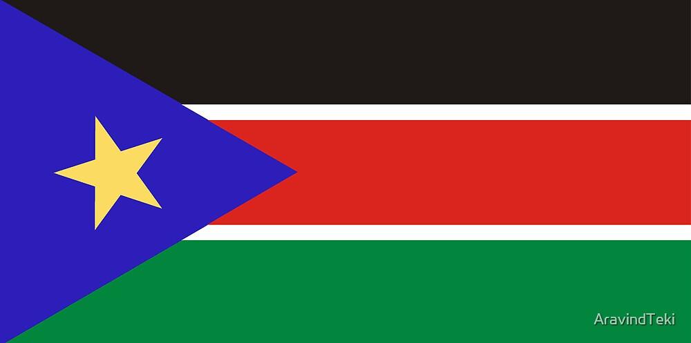 National flag Republic of South Sudan, Northeast Africa by AravindTeki
