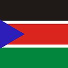 National flag Republic of South Sudan, Northeast Africa by AravindTeki