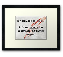 Sanity of the Werewolf Framed Print